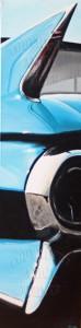Caddy Flosse, Acryl auf Leinwand, 40 x 120 cm