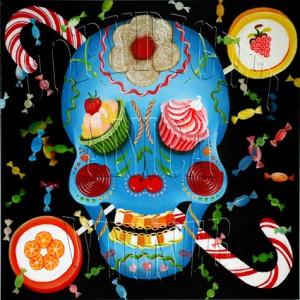 Candyman, Leinwand, 80 x 80 cm