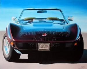 Corvette, Acryl auf Leinwand, 80 x 100 cm