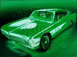 Dodge, Leinwand, 60 x 80 cm