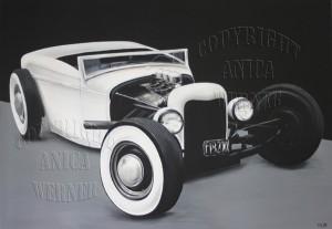White Rod, Leinwand 70 x 100 cm