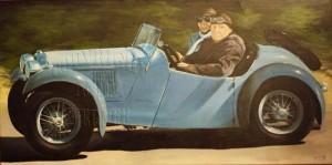 ohne Titel, Acryl auf Leinwand, 50 x 100 cm
